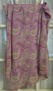 Pink paisley print skirt